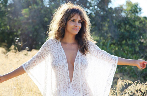 Halle Berry Will Go Sheer & Topless For Snacks [Photos]