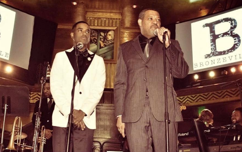 "Larenz Tate & Laurence Fishburne Launch Podcast ""Bronzeville"""