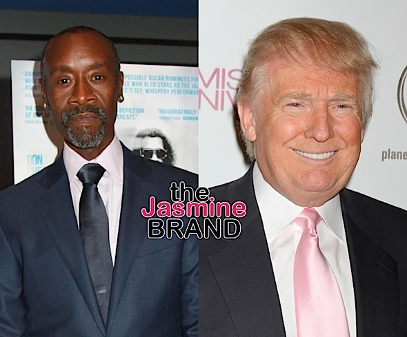 Don Cheadle Claims Trump Once Asked Friend: You ever f*ck*d a n*gg*r?