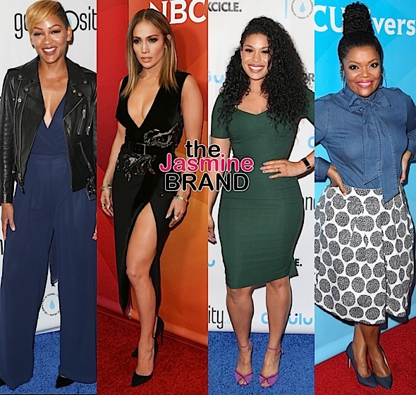 Sherri Shepherd, Gizelle Bryant, Ashley Everett, Meagan Good, J.Lo, Jordin Sparks