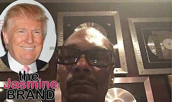 Snoop Seemingly Smokes Blunt In Front Of White House, Declares: F**k Trump!
