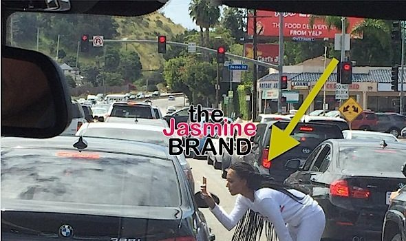 Mel B Confronts Paparazzi In Middle Of Street [Photos]