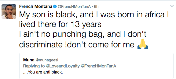 French Montana Defends Calling Critic A 'Nappy', Semen Drinking Hoe