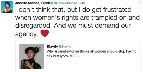 Janelle Monae Clarifies 'No Sex' Stance