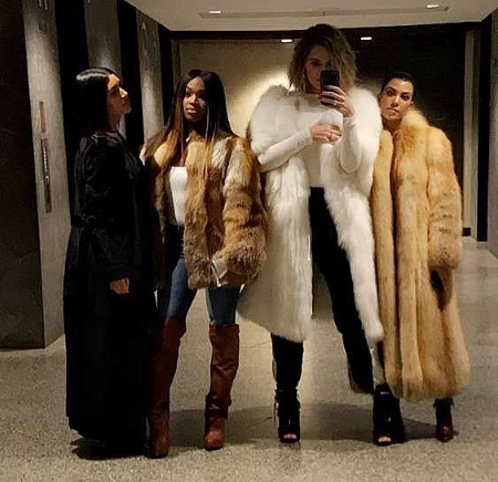 Kim, Khloe & Kourtney Kardashian + Malika & Khadijah Haqq Serve Stylish Squad Goals [Photos]