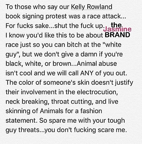 Kelly Rowland Event Interrupted By Animal Rights Protestors