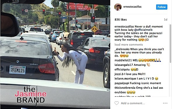 Mel B Confronts Paparazzi In Middle Of Street