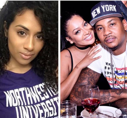 Carmelo Anthony's Pregnant Side Chick Is NOT A Stripper, Lala Anthony Moved Out Months Ago