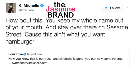 K.Michelle Trashes Loni Love & Angela Yee