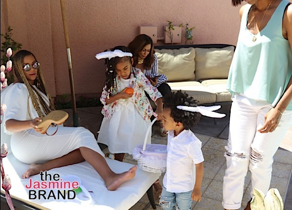Beyonce, Blue Ivy, Kelly Rowland & Baby Titan's Easter Bunny Swag