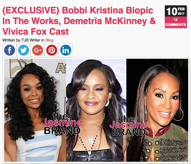 Bobbi Kristina Movie Trailer Starring Demetria McKinney, Vivica A. Fox, Nadji Jeter, Hassan Johnson & Joy Rovaris
