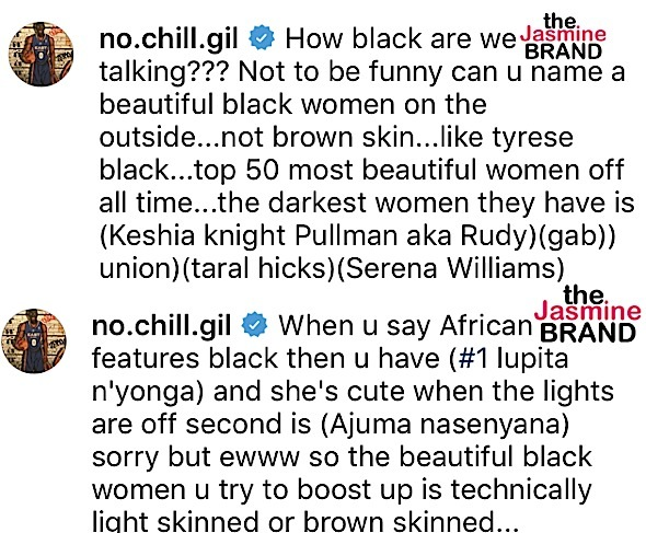 Gilbert Arenas Apologizes For Criticizing Dark Skinned Women