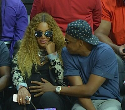 Beyonce & Jay Z Attend NBA Playoffs [Spotted. Stalked. Scene.]
