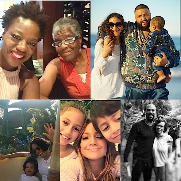 Mother's Day Celebrity Pics: Chris Brown, Halle Berry, Drake, Khloe Kardashian, NeYo, Nicki Minaj, Chris Rock, Kelly Rowland