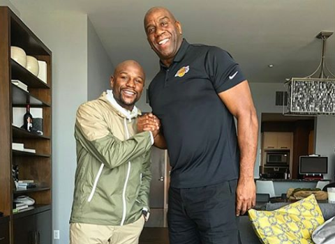 Floyd Mayweather Ready To Buy NBA Team, Meets w/ Magic Johnson [Photo]