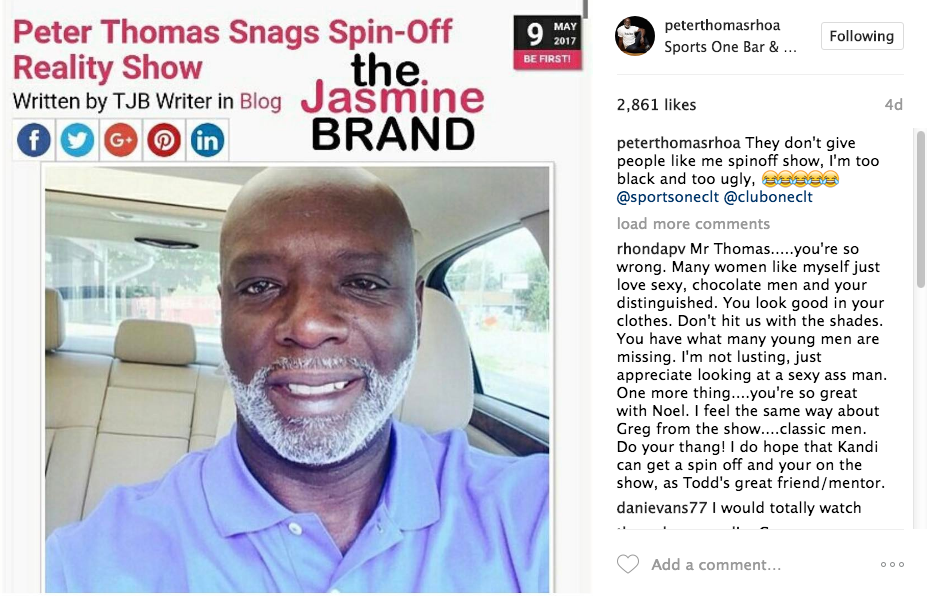 Peter Thomas Shooting Pilot For Reality Show Spin-Off