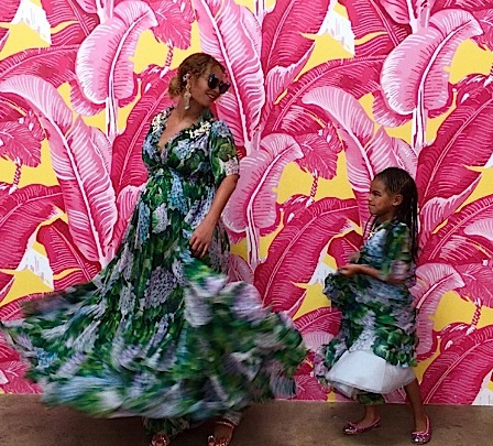 Beyonce, Jay Z & Blue Ivy Attend 'Museum of Ice Cream'