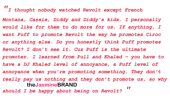 Charlamagne: I hate Diddy's Revolt. They don't pay nothing!