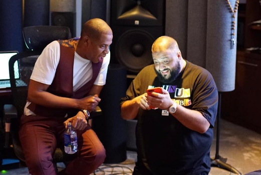 Jay Z Spotted In the Studio With DJ Khaled [Photos]