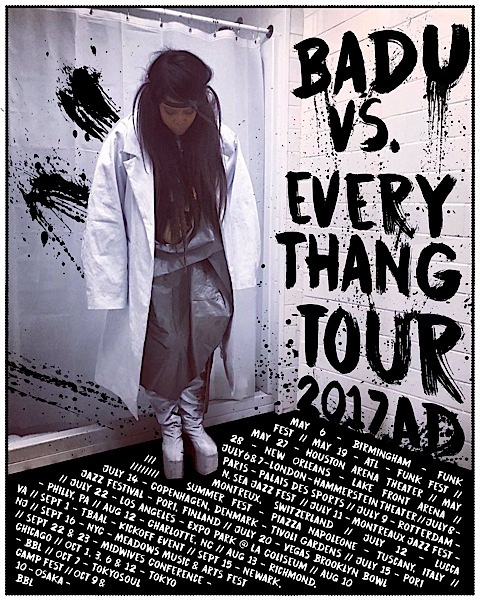 Erykah Badu Announces Badu vs. Everythang Tour