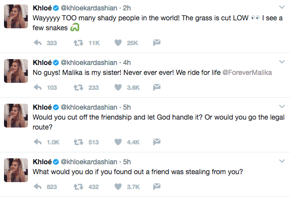 Khloe Kardashian Trashes Friend For Stealing From Her & It's NOT Malika Haqq