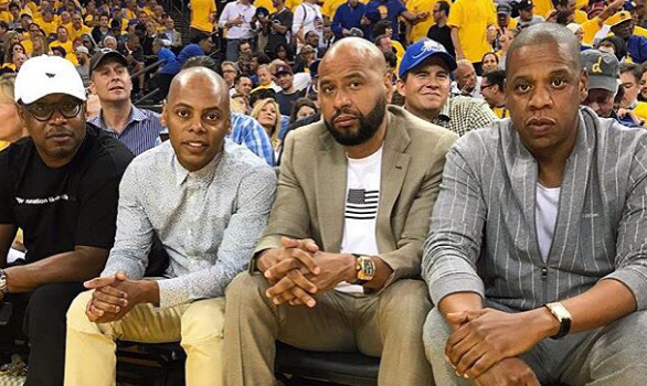Rihanna, Kevin Hart, Jay Z Spotted At NBA Finals Game [Photos]