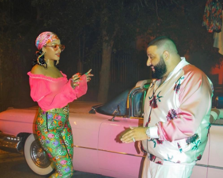 Rihanna & Bryson Tiller Shoot New DJ Khaled Video [Photos]