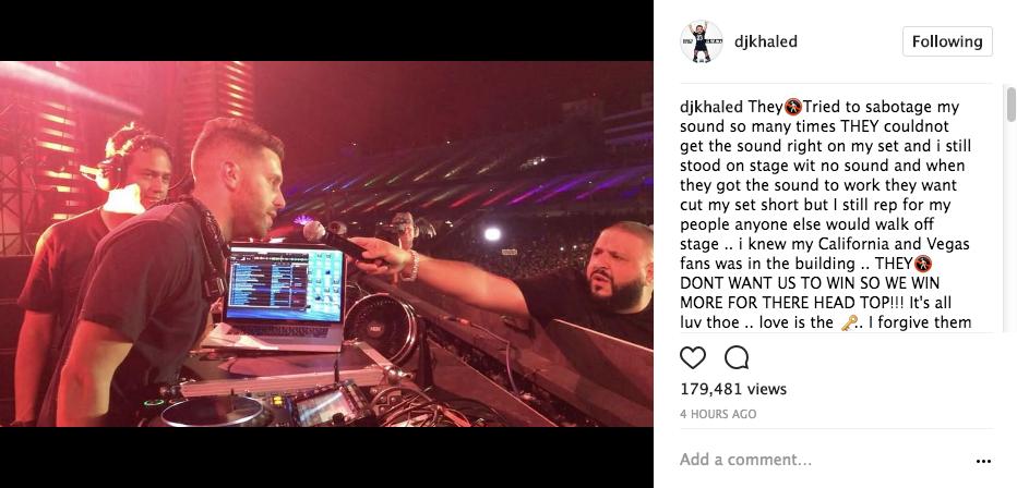 DJ Khaled Booed At EDC Festival