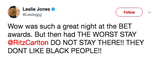 Leslie Jones Calls Ritz Carlton Racist
