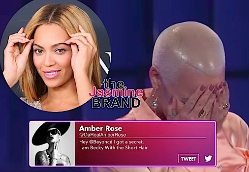 "Amber Rose's Cryptic ""Becky With The Short Hair"" Tweet to Beyonce Explained [Safe Word]"