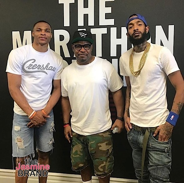 Nipsey Hussle Opens The Marathon Store: Russell Westbrook, Lauren London, Jim Jones, 21 Savage, Nav Spotted [Photos]
