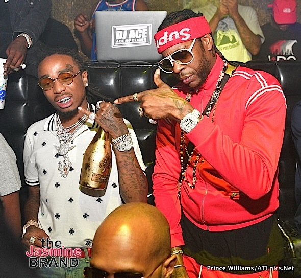 "Travis Scott, Migos, 2 Chainz & ""Black Ink Crew's"" Sky & Ceaser Party In ATL [Spotted. Stalked. Scene.]"
