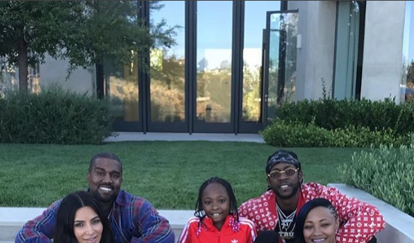 Kanye West Invites 2 Chainz Family To Sunday Dinner [Photos]