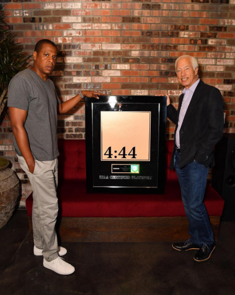 "Jay-Z's ""4:44"" Goes Platinum"
