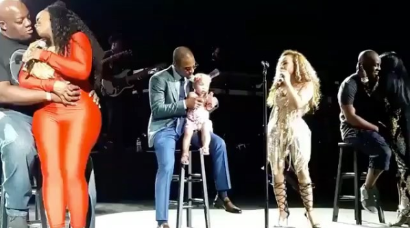 Tiny Serenades T.I. During Xscape Concert