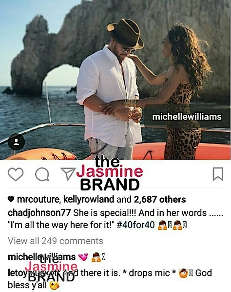 Michelle Williams Boyfriend Responds To Engagement Rumors [Photo]