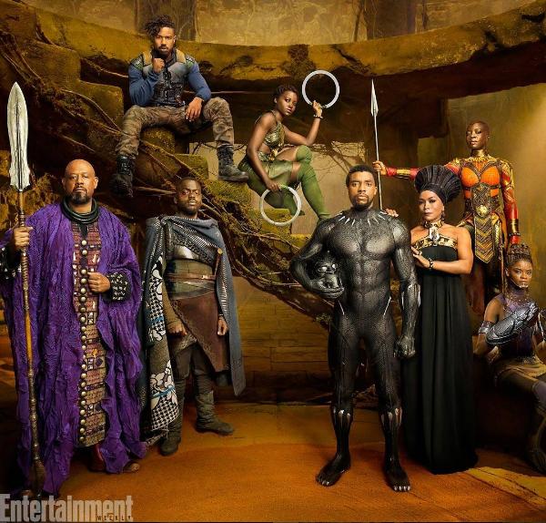 """See the """"Black Panther"""" Shoot! Chadwick Boseman, Lupita Nyong'o, Michael B. Jordan, Danai Gurira, Angela Bassett [Photos]"""
