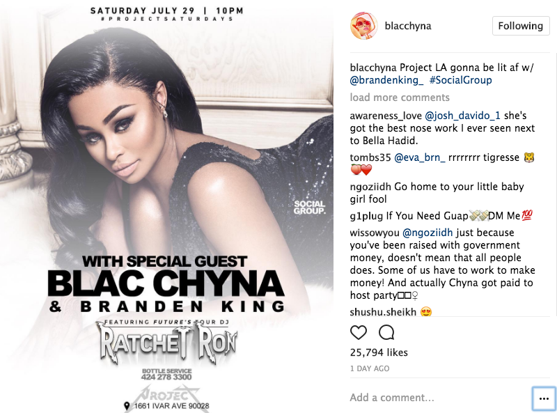 Blac Chyna Paid $15k For 1 Hour Club Appearance