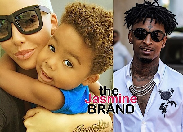 Amber Rose's Boyfriend 21 Savage: I'm not trying to play step-dad to Wiz Khalifa's son.