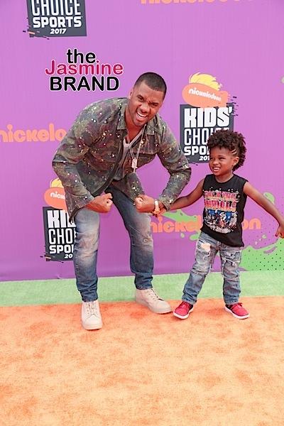 Kids Choice Sports Awards: Lamar Odom, Nick Cannon, Skylar Diggins, Brandon Jennings, Russell Wilson & Stepson Future [Photos]