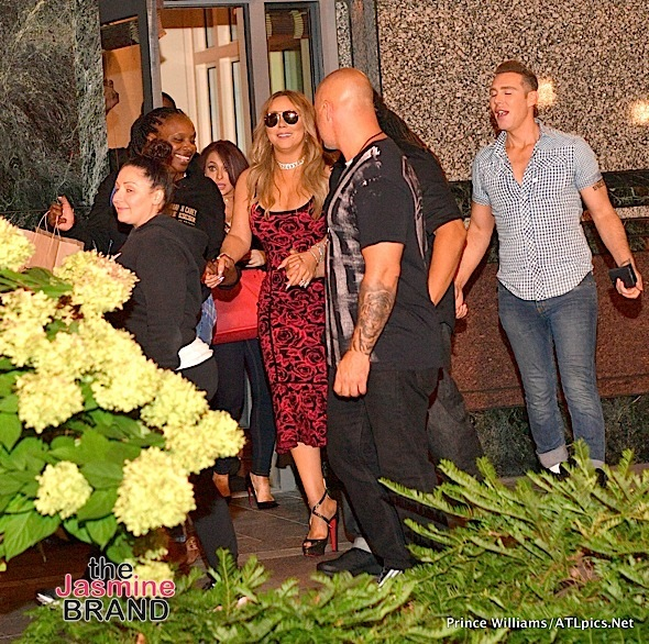 Mariah Carey Dines w/ Da Brat & Boyfriend At Atl Restaurant [Photos]