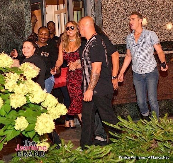 Mariah Carey Dines W/ Da Brat & Boyfriend At Atl