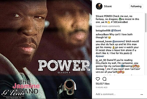 """50 Cent: My Show """"Power"""" Is Better Than """"Game Of Thrones"""""""