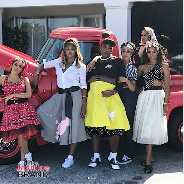 See Serena Williams 50's Theme Baby Shower: Lala, Kelly Rowland, Ciara, Eva Longoria Attend