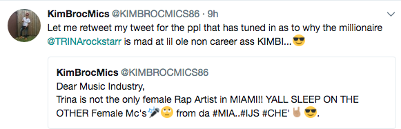 Rapper Trina Curses Out Aspiring Rapper: Y'all hoes gonna respect my motherf*cking name!