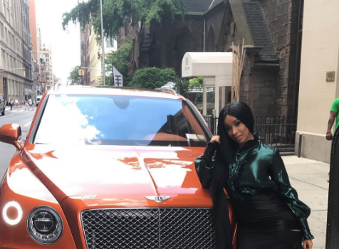 Cardi B Buys New Bentley With Cash! [Photos]