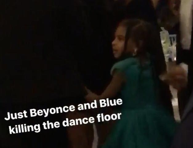 Blue Ivy Dances With Mom Beyonce At Wedding Reception