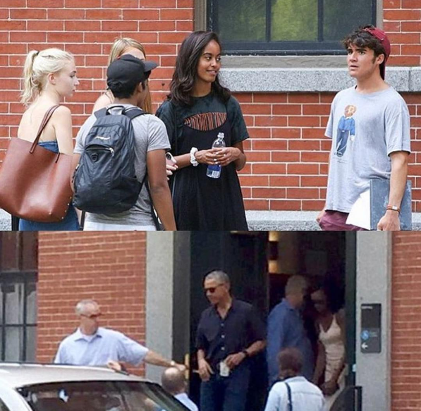 Malia Obama Arrives At Harvard, Obama's Help With Move-In Day! [Photos]