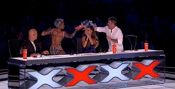 Mel B Speaks Out After Throwing Water On Simon Cowell & Storming Off Stage