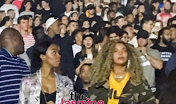 Beyonce, Jay-Z, Blue Ivy & Kelly Rowland Spotted at Kendrick Lamar's Concert